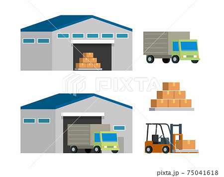 倉庫 運搬 トラック 75041618