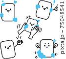 石鹸のキャラクターイラストポーズ色々セット 75048541