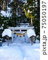 雪に埋もれた神社 75050197