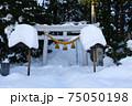 雪に埋もれた神社 75050198