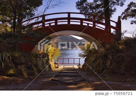 湖水祭りに使わ湖水祭りに使われる船庫前の太鼓橋 75050721