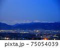 長野の夜景と北アルプス 75054039