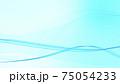 ライトブルーデジタル波型ウェーブ背景素材 75054233