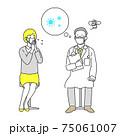 コロナウイルスに感染することが不安な医者 75061007