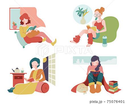 お家時間を楽しむ定番はやっぱり読書 75076401