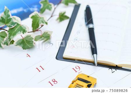 夏の予定カレンダーでスケジュール 75089826