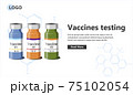 Vaccines testing landing page template. 75102054