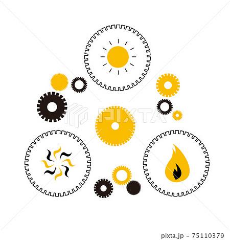 SDGs:目標7「エネルギーをみんなに そしてクリーンに」のイメージイラスト。 75110379