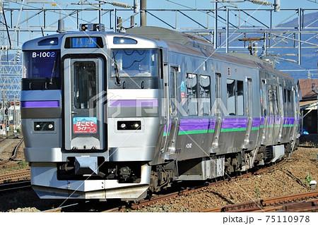 函館ライナー・733系1000番台、五稜郭駅周辺にて撮影 75110978
