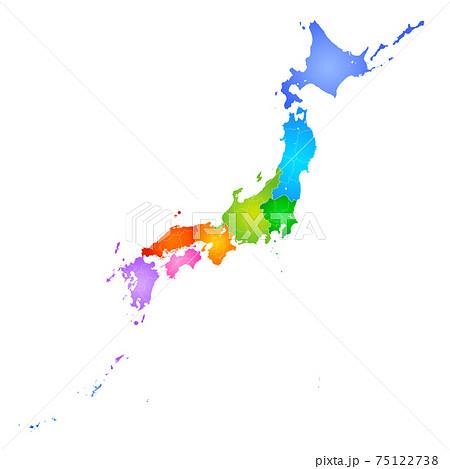 日本地図 75122738