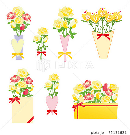 黄色い薔薇 花束セット 75131621
