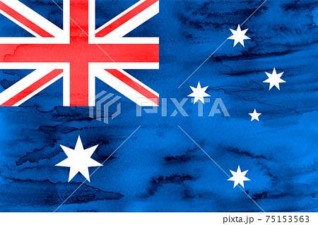 オーストラリア  国旗 水彩 和紙 75153563