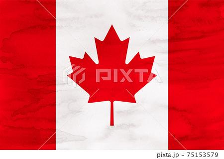 カナダ  国旗 水彩 和紙 75153579