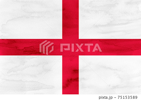 イングランド  国旗 水彩 和紙 75153589