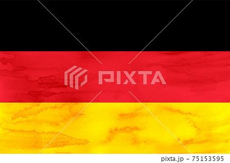 ドイツ  国旗 水彩 和紙 75153595