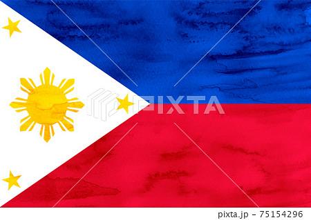 フィリピン  国旗 水彩 和紙 75154296