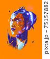 A futuristic vector illustration of a bionic lady. 75157882