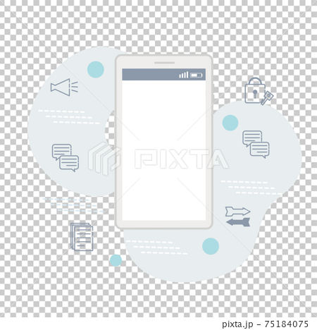它通信業務概念智能手機圖 75184075