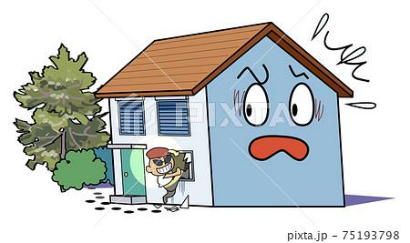 空き家問題-留守宅に空き巣が不法侵入する 75193798