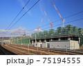 敦賀駅の北陸新幹線建設現場 75194555