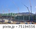 敦賀駅の北陸新幹線建設現場 75194556
