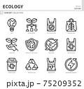 ecology icon set 75209352
