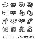 faq icon set 75209363