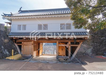 甲府城跡の鉄門の内側(舞鶴城公園) 75213480