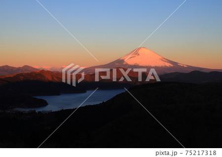 (神奈川県)箱根大観山から望む富士山 夜明け 75217318