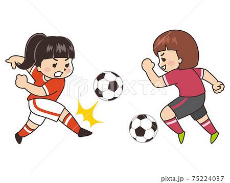 女子サッカーボール選手 スポーツ 部活動 75224037