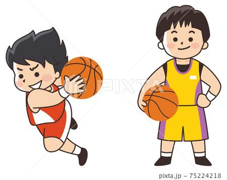 バスケットボール選手 スポーツ 部活動 75224218