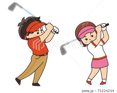 ゴルファー ゴルフ スポーツ 部活動 75224234