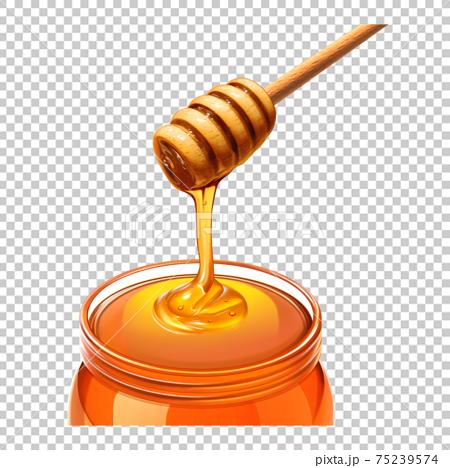 親愛的插圖蜂蜜北斗七星真實 75239574