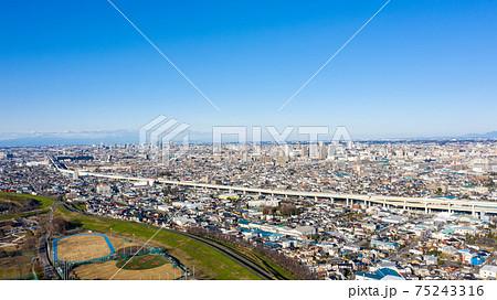 空撮「埼玉県」戸田市美女木周辺 75243316
