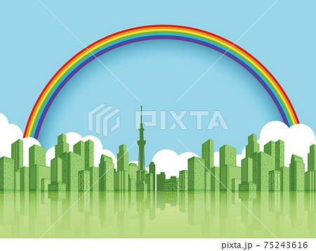 高層ビル 大都市 背景素材 75243616