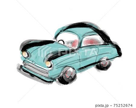 レトロな自動車の手描きイラスト素材 75252674