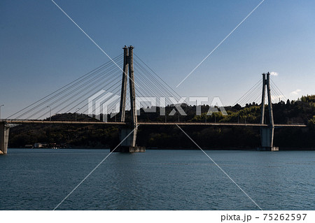 東広島市安芸津町大芝島に架かる大芝大橋 75262597