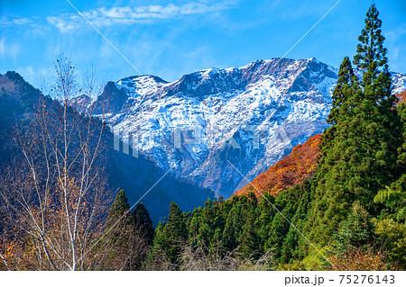 冨士浅間神社付近からの谷川岳 マナイタグラ 谷川岳南面      75276143