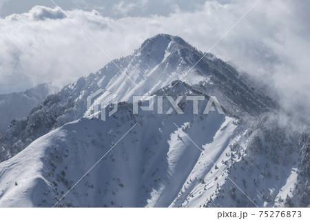 雪で真っ白に包まれた二ノ森(愛媛県) 75276873