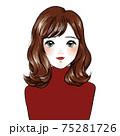 ハイネックセーターの女の子 75281726