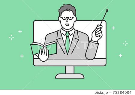 勉強を教える先生のイメージイラスト素材 75284004