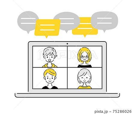 テレワーク リモート オンラインミーティング 75286026