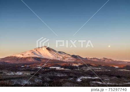朝日に照らされる浅間山(オートン効果) 75297740
