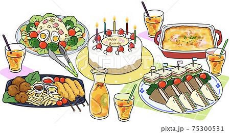 誕生日パーティー 料理 75300531