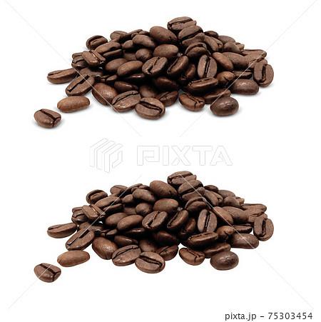 コーヒー豆 珈琲豆 イラスト リアル 75303454