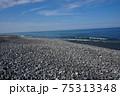 石が多い新潟県糸魚川市のヒスイ海岸 75313348