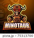 Minotaur mascot esport logo design 75313700