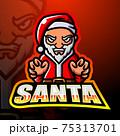 Santa claus mascot esport logo design 75313701