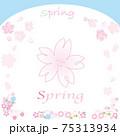 春の花と桜の花フレームセット 75313934