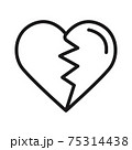 broken heart with a heart icon vector illustration isolated on white 75314438